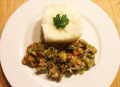 Hlíva ústřičná se zeleninou